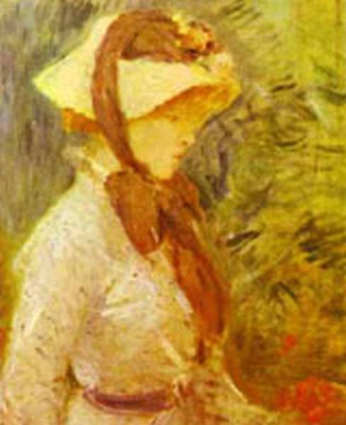 young woman with a straw hat 1884 XX the national gallery of art washington dc usa